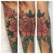 Rose Calf tattoo by Kaleo Yangco at 1 Point Tattoo