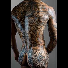 Torso mandala tattoos by Simon Halpern at 1 Point Tattoo