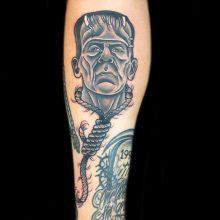 Frankenstein's Monster tattoo by Ash Hochman at 1 Point Tattoo