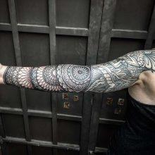 Simon Halpern Arm Mandala Tattoo