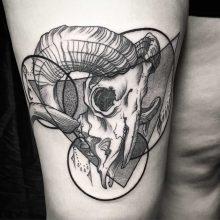 Simon Halpern Skull Tattoo