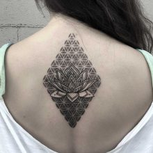 Simon Halpern Back Lotus Tattoo