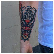 Kracken tattoo by Kaleo Yangco at 1 Point Tattoo