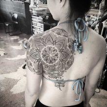 Simon Halpern Shoulder Mandala Tattoo