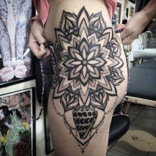 Simon Halpern Mandala Hip Tattoo