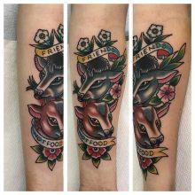 Friends not food tattoo by Kaleo Yangco at 1 Point Tattoo