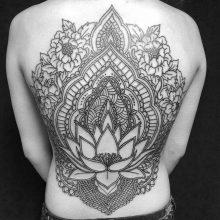 Simon Halpern Back Mandala Tattoo