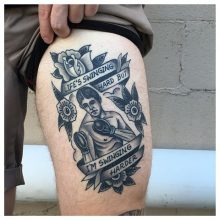Boxer tattoo by Kaleo Yangco at 1 Point Tattoo