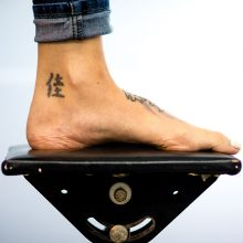 Character ankle tattoo before laser tattoo removal