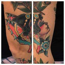 Woman tattoo by Kaleo Yangco