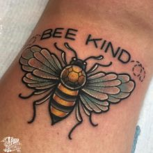 bee kind bumble bee tattoo