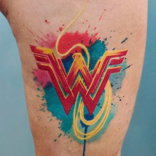 Wonder Woman watercolor style