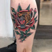 Tiger Rose Tattoo By Kaleo