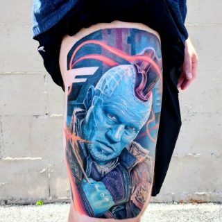 Yondu Tattoo Marvel by Robert Bennett