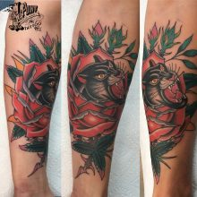 Panther Rose Tattoo By Kaleo
