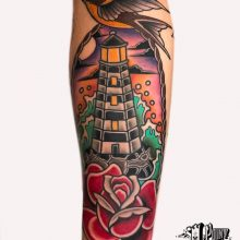 Traditional  and Neo Traditional tattoos by Ash Hochman at 1 Point Tattoo