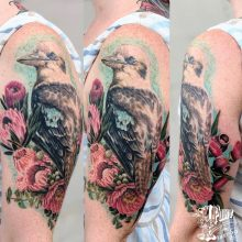 color realism water color style work by Robert @fleshdoctor13 at 1 point tattoo-1