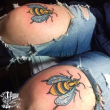 Traditional Neo Traditional tattoos by Ash Hochman at 1 Point Tattoo