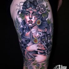 Neo Traditional Tattoos Yvonne @yvkang at 1 point tattoo-1