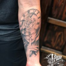 Black and grey tattoos by Matt Yoshizu at 1 Point Tattoo