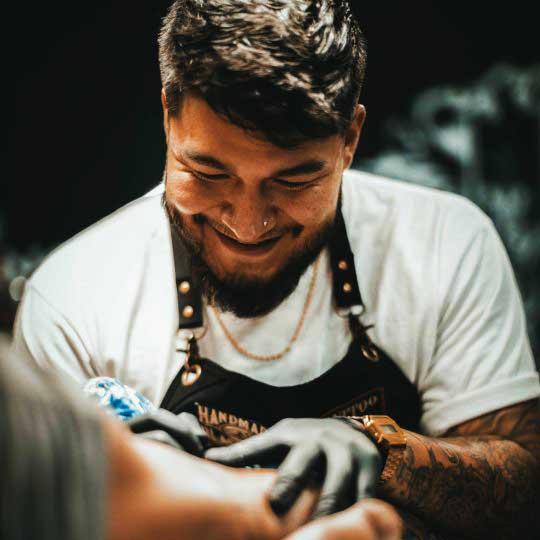 Vincent Samaniego tattoo artist at 1 Point Tattoo