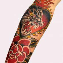 Ash Hochman panther tattoo