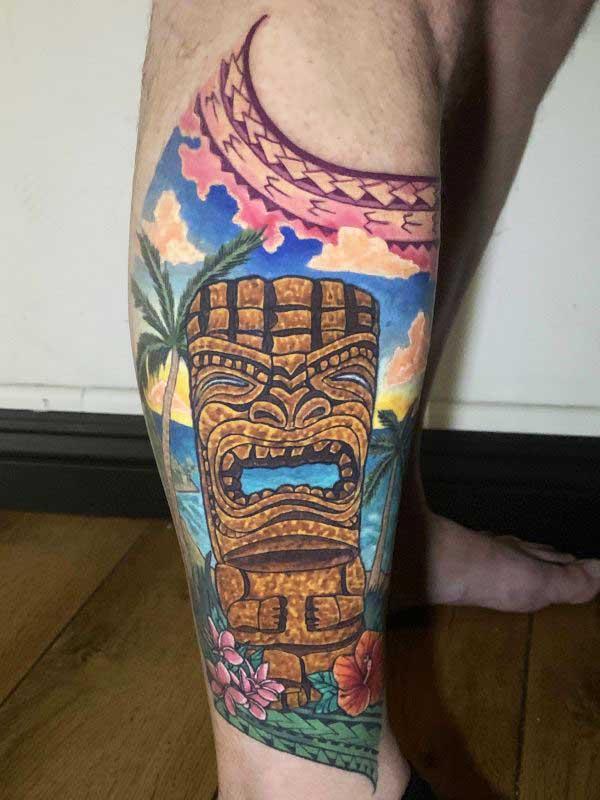 Josh Flinn polynesian tattoo