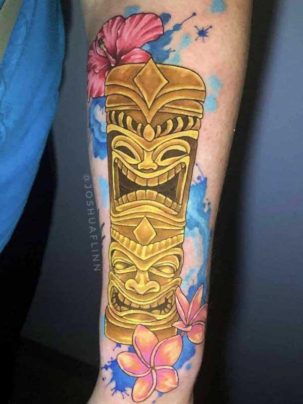 Josh Flinn polynesian totem tattoo