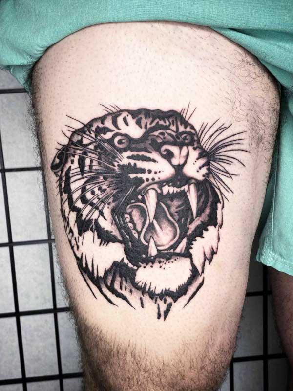 Judd Bowman tiger tattoo