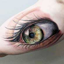 Robert Bennett eye tattoo