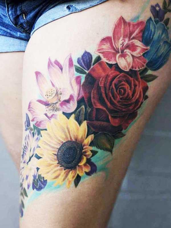 Robert Bennett flower tattoo