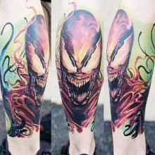 Robert Bennett monster head tattoo