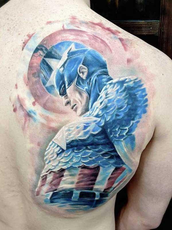 Robert Bennett superhero tattoo