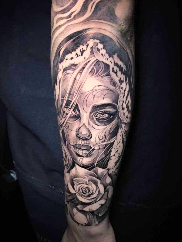 Vincent Samaniego mystery woman tattoo