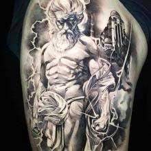 Tattoo of Zeus by Vincent Samaniego