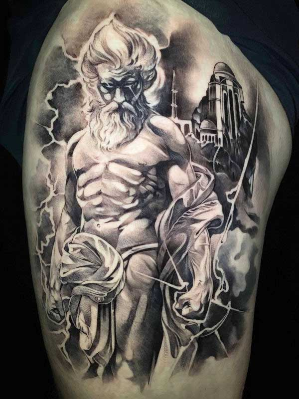 Vincent Samaniego Zeus tattoo