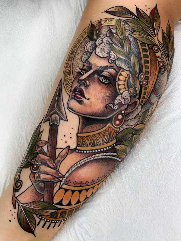 Yvonne Kang Amazon Queen tattoo