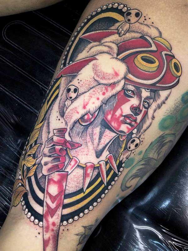 Yvonne Kang Unknown female warrior tattoo