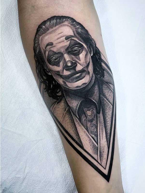 Yvonne Kang Joker tattoo