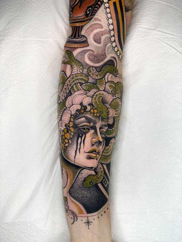 Yvonne Kang Medusa tattoo