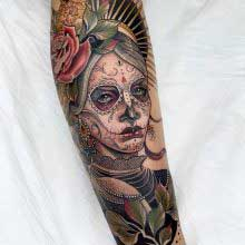Yvonne Kang tattoo of tribal queen