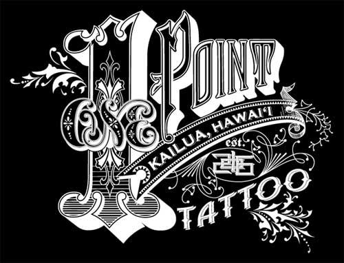 1 Point Tattoo Kailua, Hawai